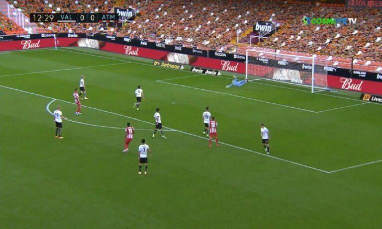 Βαλένθια – Ατλέτικο Μαδρίτης 0-1: Στην κορυφή της La Liga οι «ροχιμπλάνκος»
