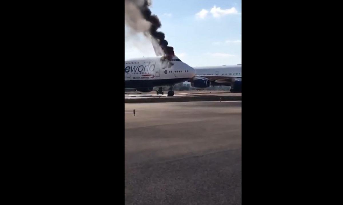 Ισπανία: Στις φλόγες Boeing 747 (vid)
