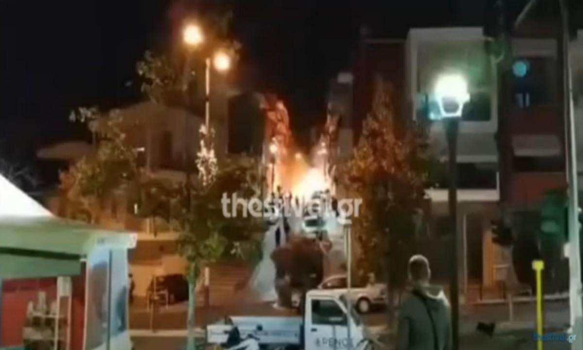 Video-ντοκουμέντο: Επίθεση με μολότοφ στο Α.Τ. Συκεών