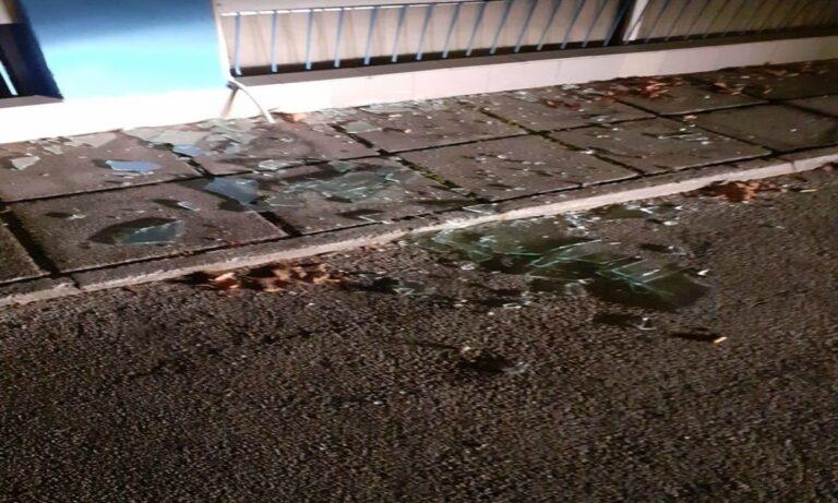 Θεσσαλονίκη: Επίθεση με πέτρες στα γραφεία του «Γ.Σ. Ηρακλής» (pics)