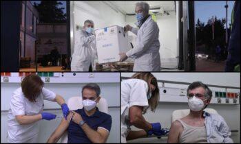 Η περιφορά των… «αγίων» εμβολίων και το «καλό παράδειγμα»