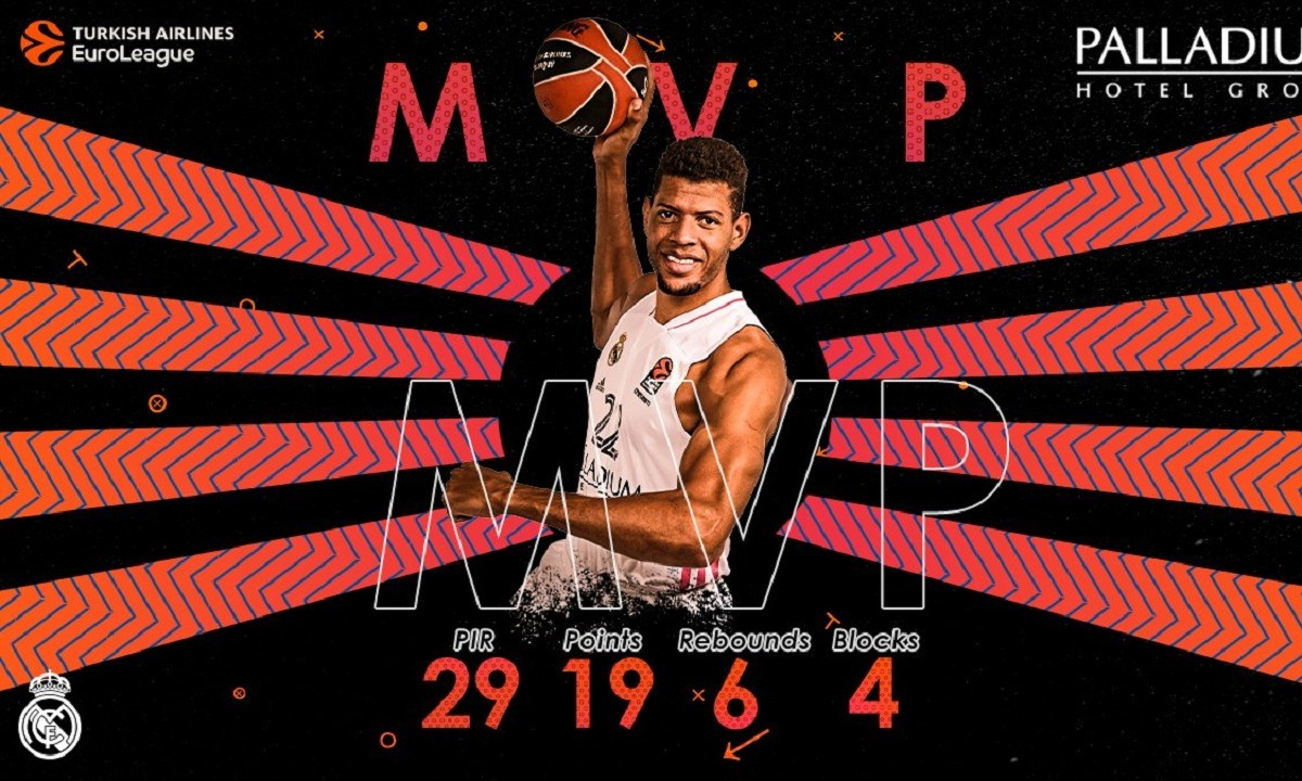 Euroleague: MVP της αγωνιστικής ο Ταβάρες