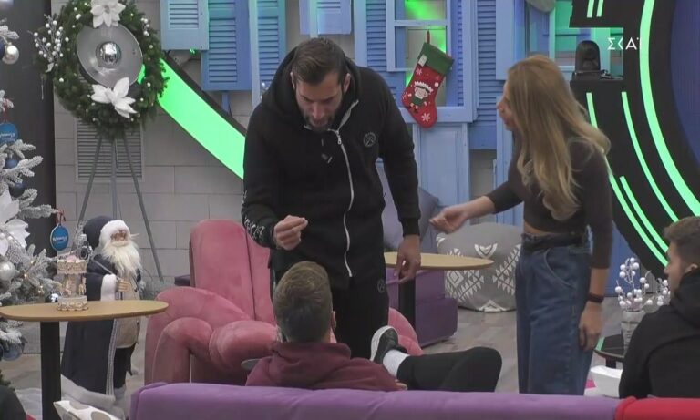 Πανικός στο Big Brother: «Τι θες ρε μ@λ@κ@, μην σου δώσω κάνα χαστούκι!» (vid)