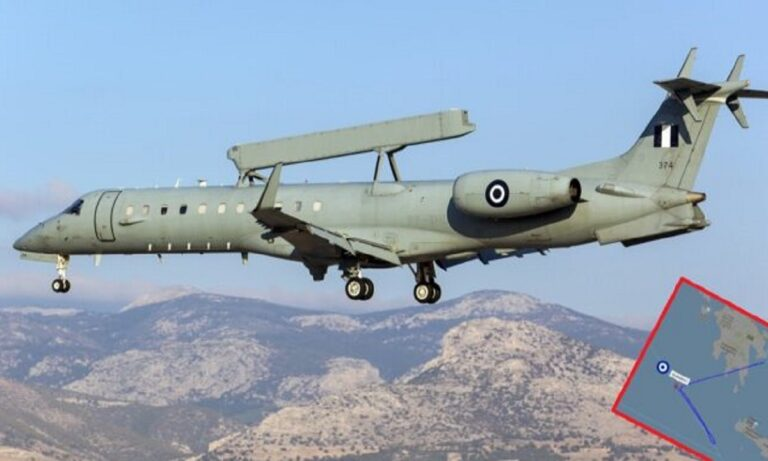 Ελληνοτουρκικά: Νέα αποστολή στη Μεσόγειο για το ελληνικό «EMB-145 AE&C»