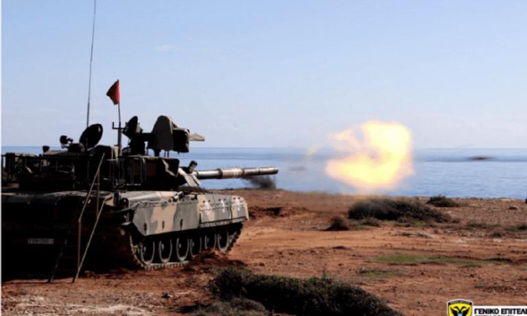 Ένοπλες Δυνάμεις: Εντυπωσιακές βολές Αρμάτων Τ-80U της Ε.Φ επί Θαλασσίων Στόχων! (vid+pics)