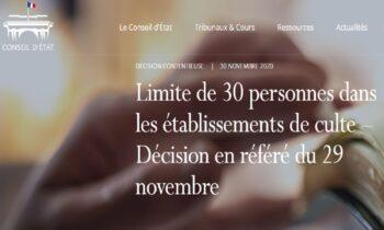Γαλλικό ΣτΕ: Το Ανώτατο Γαλλικό Δικαστήριο έκρινε αντισυνταγματικό το όριο των πιστών που θέσπισε η κυβέρνηση για τους λατρευτικούς χώρους.