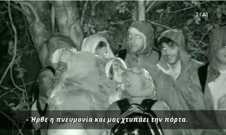 Survivor: Η δύσκολη η πρώτη βραδιά με καταρρακτώδη βροχή (vid)