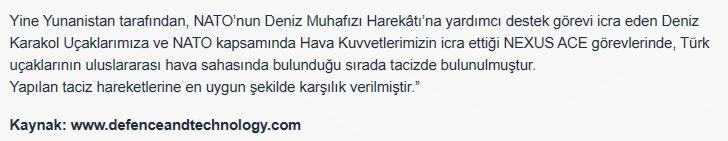 Τουρκία: Σύμφωνα με το τουρκικό υπουργείο Άμυνας η Ελλάδα παρενόχλησε τα πολεμικά αεροσκάφη της Τουρκίας.