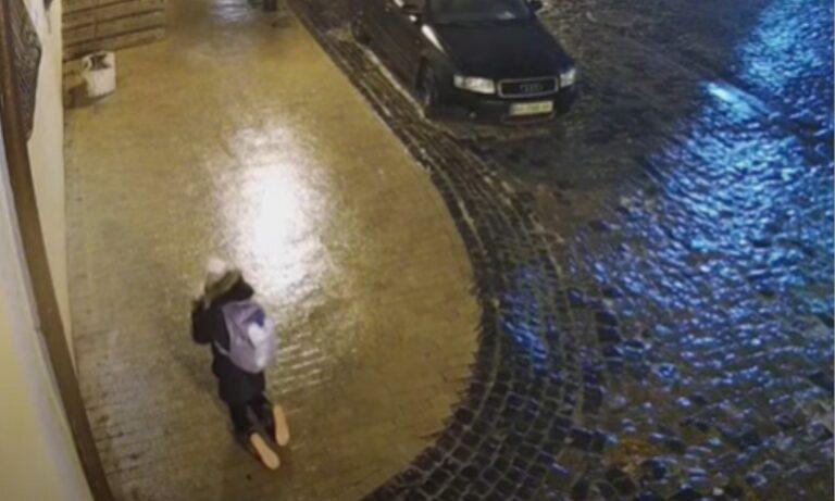 H απεγνωσμένη μάχη γυναίκας να διασχίσει παγωμένο πεζοδρόμιο (vid)