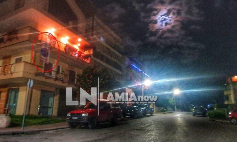 Λαμία: Πανό-έπος σε μπαλκόνι – «Δεν ρουφιανεύουμε τους γείτονες» (pics)
