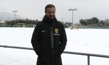 Μάντζιος: «Δεν μας επηρεάζει η ήττα από την ΑΕΚ, έτοιμοι για νίκη με Παναθηναϊκό» (vid)