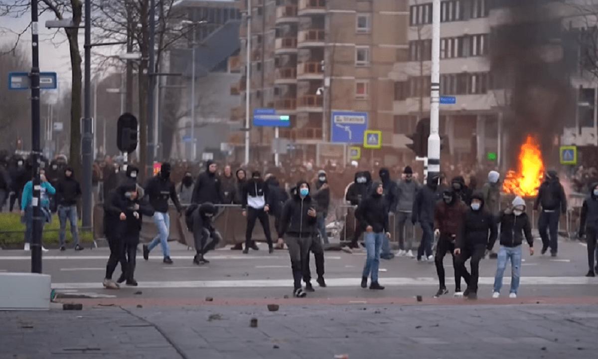 Χαμός στην Ολλανδία: Διαδηλώσεις και συγκρούσεις για την απαγόρευση κυκλοφορίας (vids)