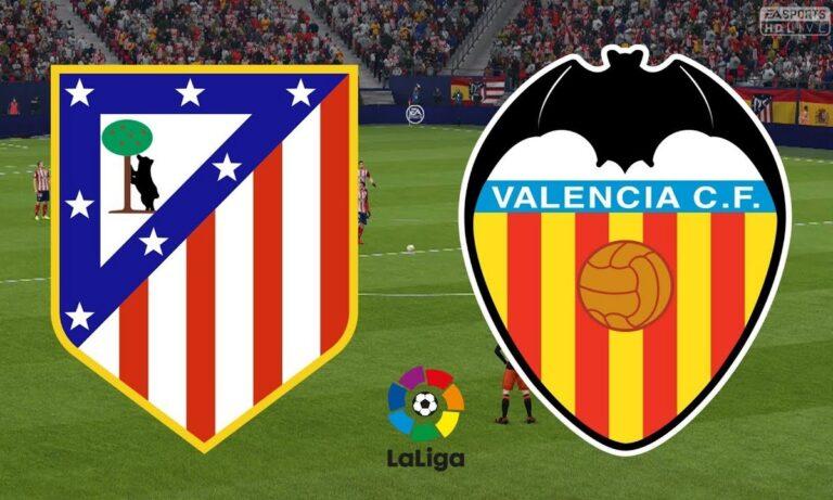 Ατλέτικο Μαδρίτης – Βαλένθια 3-1 (ΤΕΛΙΚΟ)