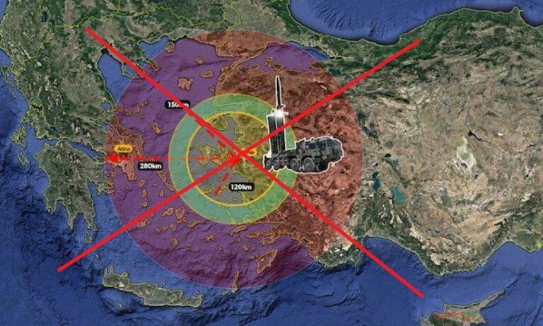 Eλληνοτουρκικά: Οι BORA με εμβέλεια τα 280 χλμ θα πρέπει να τοποθετηθούν στα παράλια της Μικράς Ασίας για να μπορούν θεωρητικά να απειλήσουν ακόμη και την ελληνική πρωτεύουσα.