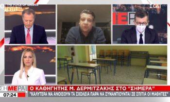 Δερμιτζάκης: «Η εστίαση να ανοίξει σε τρεις εβδομάδες μόνο στους εξωτερικούς χώρους»