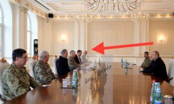 Toύρκοι: Η ανακοίνωση του αζέρικου υπουργείου Άμυνας δεν έκανε καμιά αναφορά στον Τούρκο υπεύθυνο των Bayraktar, ο οποίος συνόδευσε στην χώρα τον Τούρκο υπουργό Άμυνας, Χουλούσι Ακάρ.