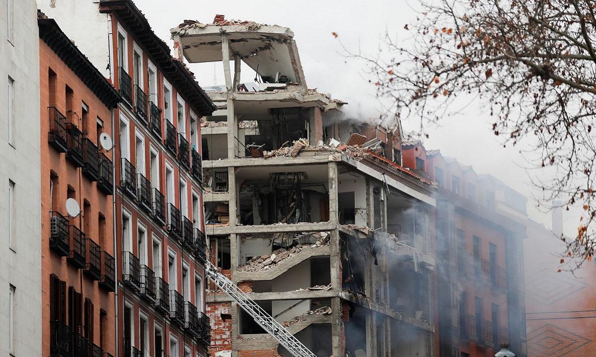 EKTAKTO: Πολύ ισχυρή έκρηξη στη Μαδρίτη! (vids)
