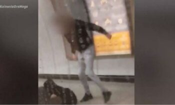 Μετρό: Καρέ-καρέ η άγρια επίθεση σε σταθμάρχη από αρνητές μάσκας (vid)