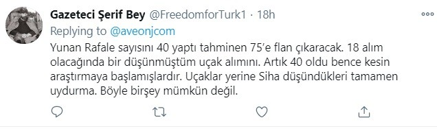 Tούρκοι: Η αγορά των 18 γαλλικών Rafale από την Ελλάδα έχει προκαλέσει φρενίτιδα στην Τουρκία, ειδικά στους χρήστες του διαδικτύου και του Twitter.