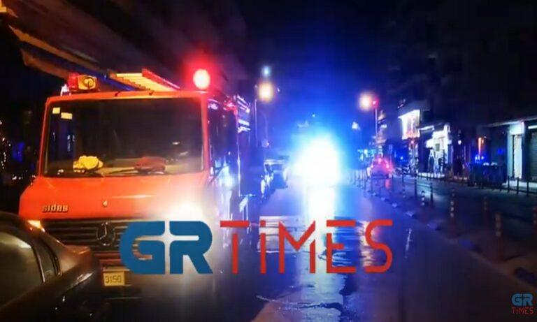 Θεσσαλονίκη: Φωτιά σε κατάστημα (vid)