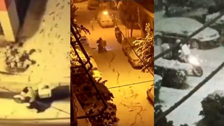 Ντελιβεράδες στα χιόνια