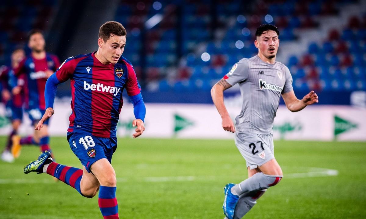 Λεβάντε και Αθλέτικ Μπιλμπάο αρκέστηκαν στο 1-1 το βράδυ της Παρασκευής (26/2) σε ματς για την 25η αγωνιστική της Primera Division.