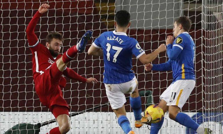 Λίβερπουλ – Μπράιτον 0-1: Ήττα σοκ, το «Άνφιλντ» την βγάζει εκτός τίτλου (vid)