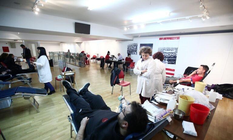 Ολυμπιακός: Το Σάββατο και με τηλεφωνικό ραντεβού η αιμοδοσία στη μνήμη των θυμάτων της Θύρας 7
