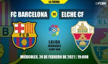 Μπαρτσελόνα-Έλτσε: Εξ αναβολής αναμέτρηση για την 1η αγωνιστική της Primera Division (σέντρα στις 20:00). Παρακολουθήστε τη live.