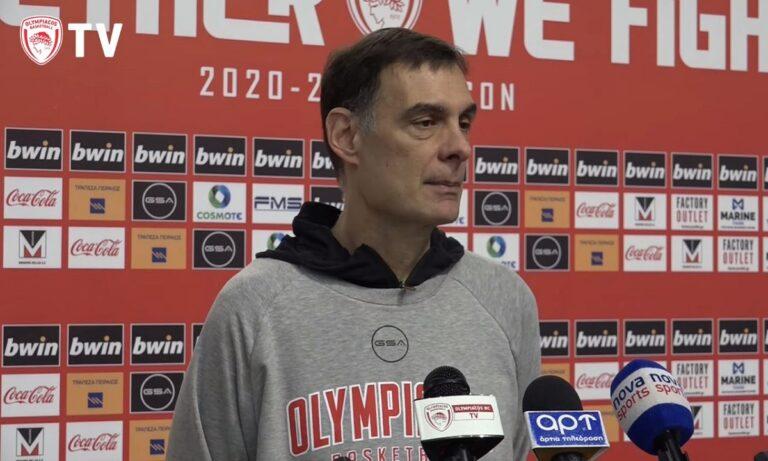 Μπαρτζώκας: «Ο Ολυμπιακός είναι πάνω από όλους»