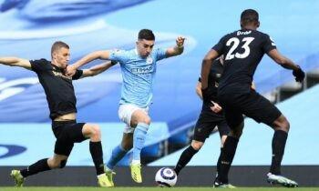 Μάντσεστερ Σίτι-Γουέστ Χαμ: Ισόπαλο, με σκορ 1-1 έληξε το ημίχρονο της αναμέτρησης της 26ης αγωνιστική της Premier League, στο City of Manchester Stadium.