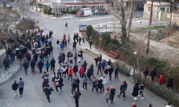 Εύοσμος: Πορεία κατά των περιοριστικών μέτρων - Video του Sportime