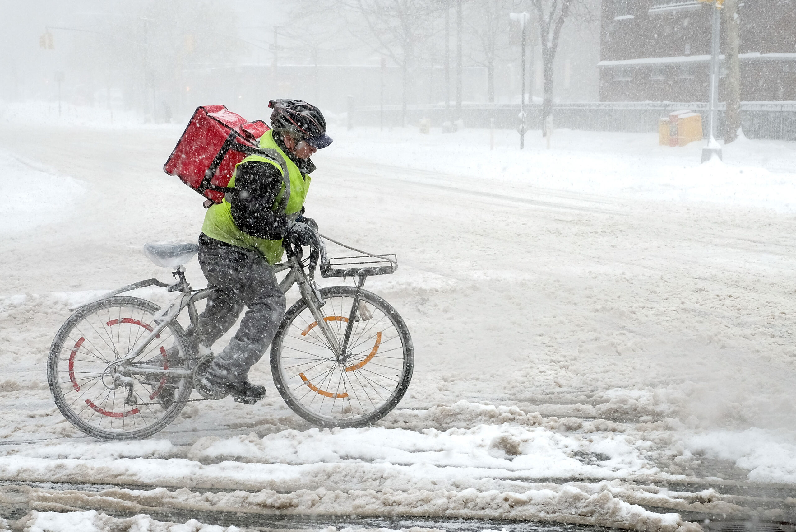 Ντελίβερι στα χιόνια : Ψάχνετε να παραγγείλετε;