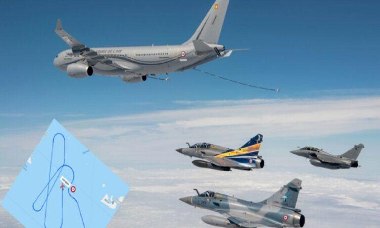 Πολεμική Αεροπορία: Έφτασαν τα 4 γαλλικά Rafale στην Τανάγρα, τα οποία θα συμμετέχουν σε ασκήσεις με ελληνικά μαχητικά.