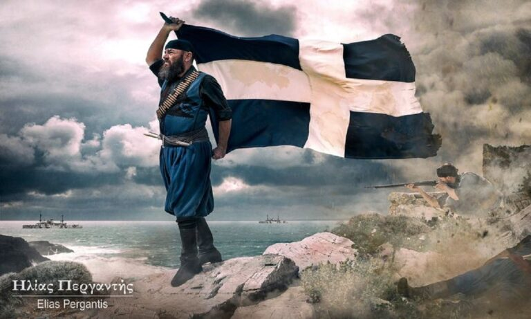 Σαν σήμερα ο Σπύρος Καγιαλές όταν μια οβίδα θρυμμάτισε τον ιστό της Ελληνικής σημαίας αυτός την άρπαξε κάνοντας το ίδιο του το σώμα κοντάρι