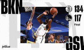 NBA Αποτελέσματα: Υποκλίθηκαν στους Νετς οι Γουόριορς (vids)