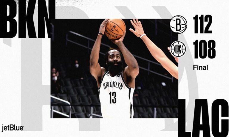 NBA Αποτελέσματα: Νίκησαν και τους Κλίπερς οι Νετς και τρομάζουν (vid)