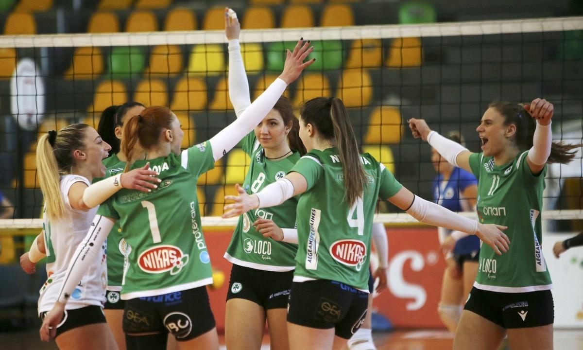 Volley League Γυναικών: Εύκολα στην κορυφή ο Παναθηναϊκός
