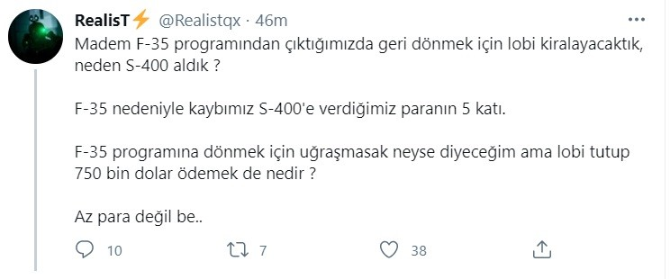Ελληνοτουρκικά: Άρχισαν τη γκρίνια οι Τούρκοι μετά την είδηση που δημοσιοποιήθηκε την Πέμπτη πως η Άγκυρα προσέλαβε Αμερικανούς δικηγόρους για να προσπαθήσει να επιστρέψει στο πρόγραμμα των F-35.