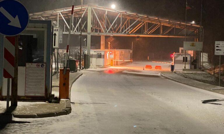 Ροδόπη: Στα «λευκά» ο Συνοριακός Σταθμός Νυμφαίας από την κακοκαιρία Μήδεια