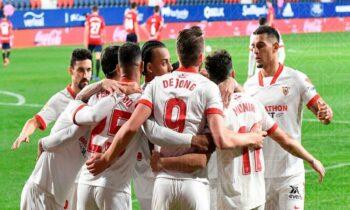 Η Σεβίλλη επικράτησε 2-0 εκτός έδρας της Οσασούνα στο ματς που έριξε την αυλαία της 24ης αγωνιστικής της Primera Division.