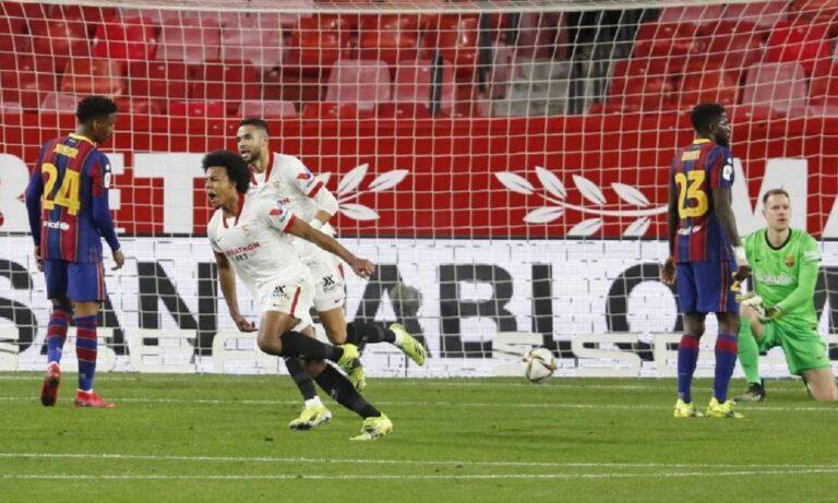Σεβίλλη – Μπαρτσελόνα 2-0: Προβάδισμα πρόκρισης με Κουντέ και Ράκιτιτς (vid)