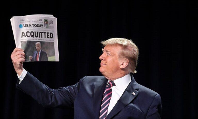 Ντόναλντ Τραμπ: Αθώος για την επίθεση στο Καπιτώλιο (vid)
