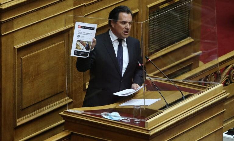 Άδωνις Γεωργιάδης στη Βουλή: «Γέλασε ο μωρός από τα Σφακιά» – Πολάκης: «Ντροπή σου Καραγκιόζη»