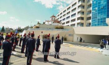 25η Μαρτίου 2021 -Λαμία: Μοναδικές στιγμές συγκίνησης και περηφάνιας στο νοσοκομείο της πόλης καθώς ο Εθνικός ύμνος «άγγιξε» τους πάντες.