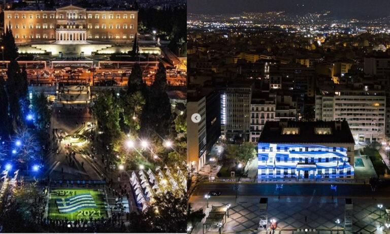 25η Μαρτίου – Εντυπωσιακές εικόνες απο την πλατεία Συντάγματος με drone
