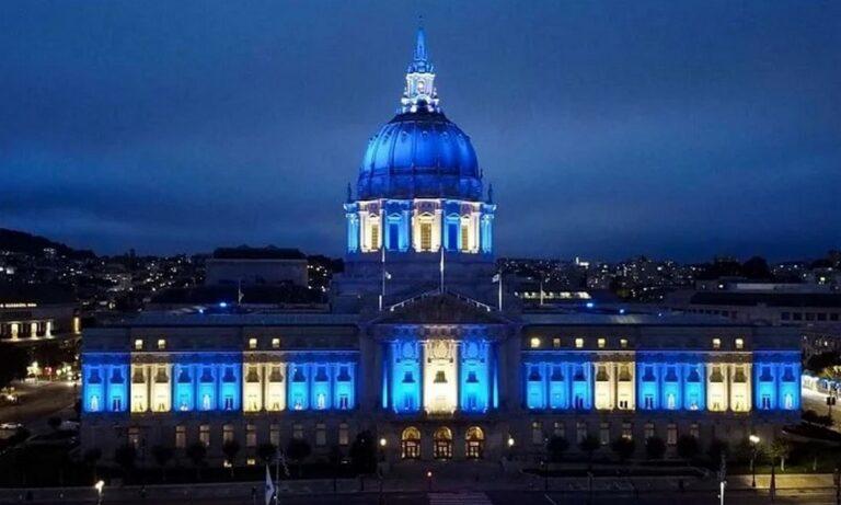 Ελληνική Επανάσταση – ΗΠΑ: Γαλανόλευκο το δημαρχείο του Σαν Φρανσίσκο – Ποιος πήρε την πρωτοβουλία