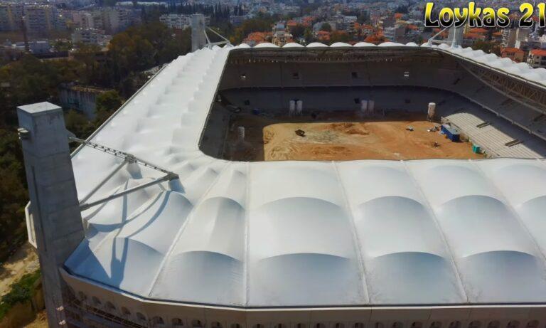 ΑΕΚ: Πτήση με drone στην Αγιά Σοφιά – Opap Arena (vid)