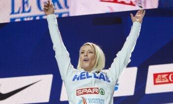 Την πρόκρισή της στον τελικό του άλματος τριπλούν εξασφάλισε εύκολα η Βούλα Παπαχρήστου, στο Ευρωπαϊκό κλειστού στίβου στο Τόρουν της Πολωνίας.