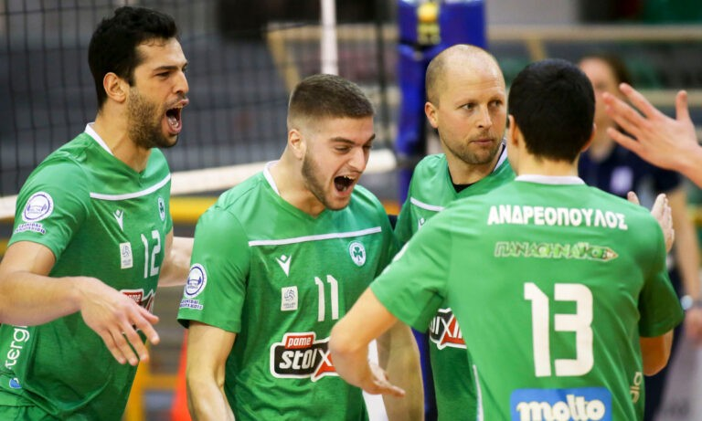 Volley League: Εύκολη νίκη ο Παναθηναϊκός πριν τα ντέρμπι